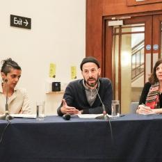 Panel 2: She Told Me So: Memory Work. Ayesha Hameed, Deniz Soezen, Behzad Khosravi Noori (via skype) with chair/discussant Uriel Orlow, CREAM Research Fellow.
